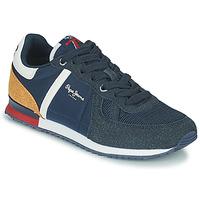 Zapatos Niño Zapatillas bajas Pepe jeans SYDNEY COMBI BOY AW21 Marino / Marrón