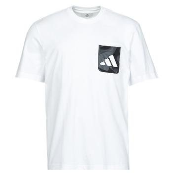 textil Hombre Camisetas manga corta adidas Performance CAMO PKT TEE Blanco