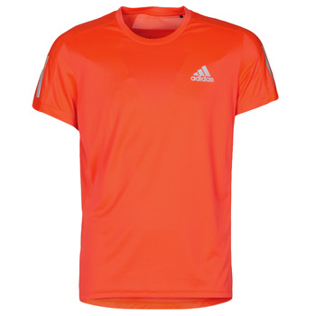 textil Hombre Camisetas manga corta adidas Performance OWN THE RUN TEE App / Solar / Rojo