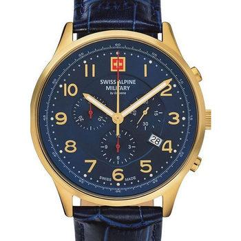 Relojes & Joyas Hombre Relojes analógicos Swiss Alpine Military Swiss Military 7084.9515, Quartz, 43mm, 10ATM Oro