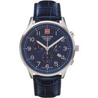 Relojes & Joyas Hombre Relojes analógicos Swiss Alpine Military Swiss Military 7084.9535, Quartz, 43mm, 10ATM Plata