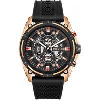 Relojes & Joyas Hombre Relojes analógicos Police PEWJQ2003540, Quartz, 46mm, 5ATM Oro