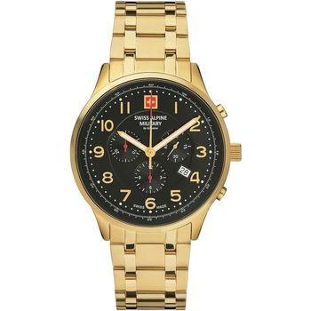 Relojes & Joyas Hombre Relojes analógicos Swiss Alpine Military Swiss Military 7084.9117, Quartz, 43mm, 10ATM Oro