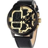 Relojes & Joyas Hombre Relojes mixtos analógico-digital Police PEWJD2003202, Quartz, 48mm, 5ATM Negro