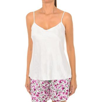 Ropa interior Mujer Camiseta interior DIM Camiseta raso de tirantes Lovable. Blanco