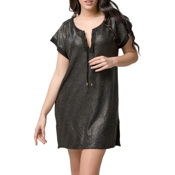 textil Mujer Vestidos cortos Luna Robe courte de plage Star  Splendida Pearl Black