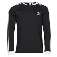 textil Hombre Camisetas manga larga adidas Originals 3-STRIPES LS T Negro