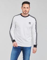 textil Hombre Camisetas manga larga adidas Originals 3-STRIPES LS T Blanco
