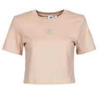 textil Mujer Camisetas manga corta adidas Originals CROPPED  TEE Beige