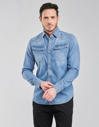 textil Hombre Camisas manga larga G-Star Raw 3301 SLIM SHIRT LS Azul