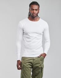 textil Hombre Camisetas manga larga G-Star Raw BASE R T LS 1-PACK Blanco