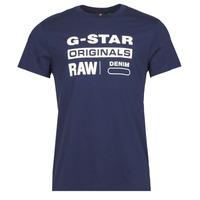 textil Hombre Camisetas manga corta G-Star Raw GRAPHIC 8 R T SS Azul