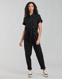 textil Mujer Monos / Petos G-Star Raw ARMY JUMPSUIT SS Negro