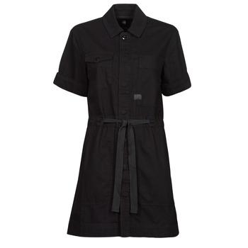textil Mujer Vestidos cortos G-Star Raw ARMY DRESS SHORT SLEEVE Negro