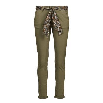 textil Mujer Pantalones chinos Le Temps des Cerises LIDY900 Kaki