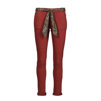 textil Mujer Pantalones chinos Le Temps des Cerises LIDY900 Burdeo