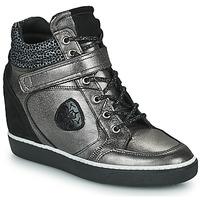 Zapatos Mujer Zapatillas altas Philippe Morvan NOEK Negro / Plata