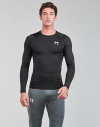 textil Hombre Camisetas manga larga Under Armour UA HG ARMOUR COMP LS Negro / Blanco