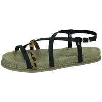 Zapatos Mujer Sandalias Biobio Sandalias leopardo NEGRO