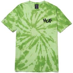textil Hombre Tops y Camisetas Huf T-shirt haze brush tie dye ss Verde