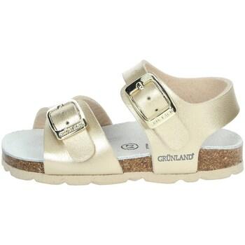 Zapatos Niña Sandalias Grunland SB0392-40 Platino