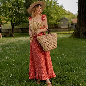 textil Mujer Vestidos largos Céleste AURORE version courte Rojo