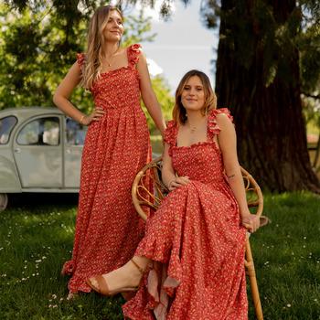 textil Mujer Vestidos largos Céleste AURORE Rojo