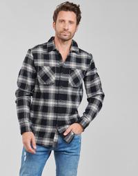 textil Hombre Camisas manga larga Volcom TONE STONE L/S Negro