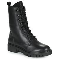 Zapatos Mujer Botas de caña baja Kaporal ZELIZA Negro / Glitter