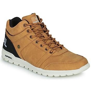 Zapatos Hombre Zapatillas altas Kaporal DAWSON Camel / Negro