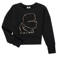 textil Niña Sudaderas Karl Lagerfeld CORNALINE Negro