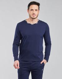 textil Hombre Camisetas manga larga Polo Ralph Lauren CREEW SLEEP TOP Marino