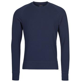 textil Hombre Camisetas manga larga Polo Ralph Lauren LS CREW SLEEP TOP Marino