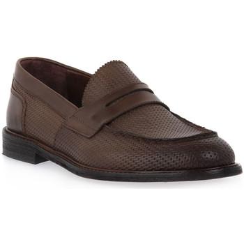 Zapatos Hombre Mocasín Marco Ferretti STRAW NOCE Marrone