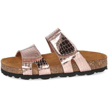 Zapatos Niña Zuecos (Mules) Conguitos KV5 51729 ROSA METALIZADO