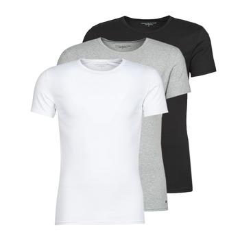 textil Hombre Camisetas manga corta Tommy Hilfiger STRETCH TEE X3 Blanco / Gris / Negro