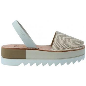 Zapatos Mujer Sandalias Ria Sandalias Menorquinas Abarcas Mujer de  Kim 27350-2-S2 Gris