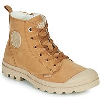 Zapatos Mujer Botas de caña baja Palladium PAMPA HI ZIP WL W Marrón