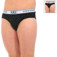 Ropa interior Hombre Braguitas Kisses And Love Pack-2 Slips Kisses & Love Negro