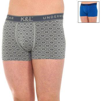 Ropa interior Hombre Boxer Kisses And Love Pack-2 Boxers Kisses & Love Multicolor