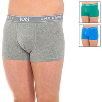 Ropa interior Hombre Boxer Kisses And Love Pack-3 Boxers Kisses & Love Multicolor