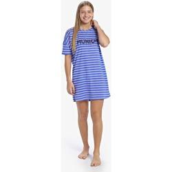textil Mujer Pijama Munich Camisón manga corta Casual Azul