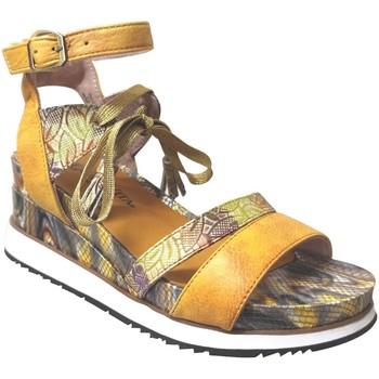 Zapatos Mujer Sandalias Laura Vita Hecio 11 Cuero amarillo
