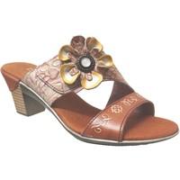 Zapatos Mujer Zuecos (Mules) Laura Vita Becttinoo 91 Cuero camel