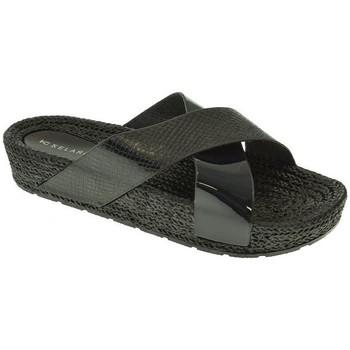 Zapatos Mujer Zuecos (Mules) Kelara PLAYA PISCINA M  NEGRO Negro