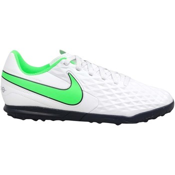 Zapatos Niños Fútbol Nike Tiempo Legend 8 Club TF JR Blanco