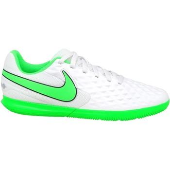 Zapatos Niños Fútbol Nike JR Tiempo Legend 8 Club IC Blanco
