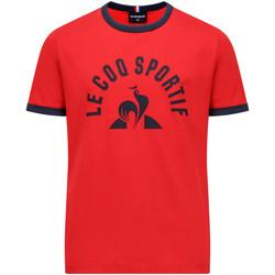 textil Niño Camisetas manga corta Le Coq Sportif Bat Tee SS N°4 Kids Rojo