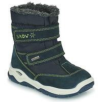 Zapatos Niña Botas de nieve Citrouille et Compagnie POUDOU Azul / Verde