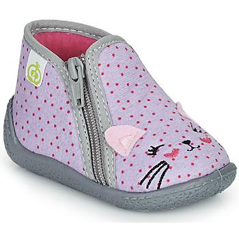 Zapatos Niña Pantuflas Citrouille et Compagnie PUSILI Gris